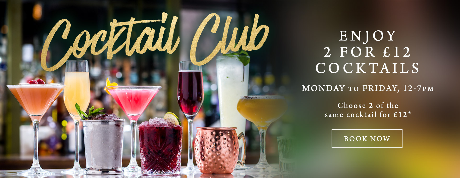 2 for £12 cocktails at The Tudor Rose